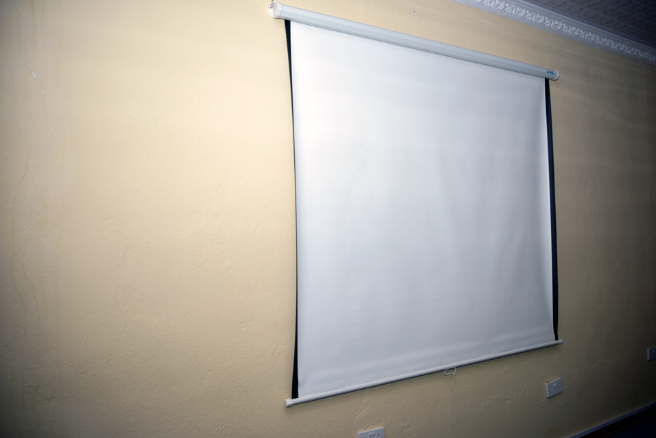 Nampol College Boardroom Projector Screen